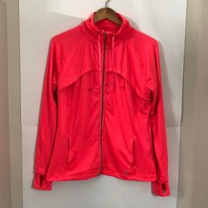 CHAMPION Large bright neon pink zip up sweater